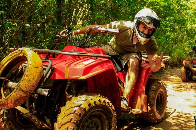 3 adrenaline activities Atvs Zipline and a swim experience in a cenote photo 3