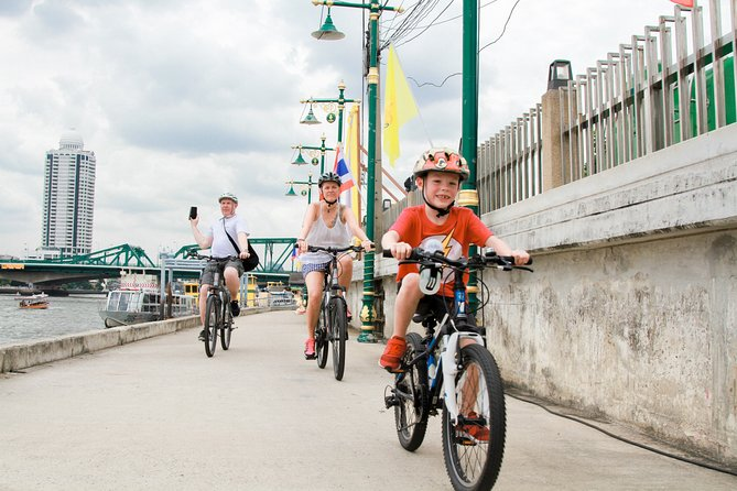 Experience Bangkok Bike Tour & Chao Phraya Canal Boat Ride with lunch