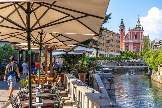 Ljubljana Riverbank Cafe