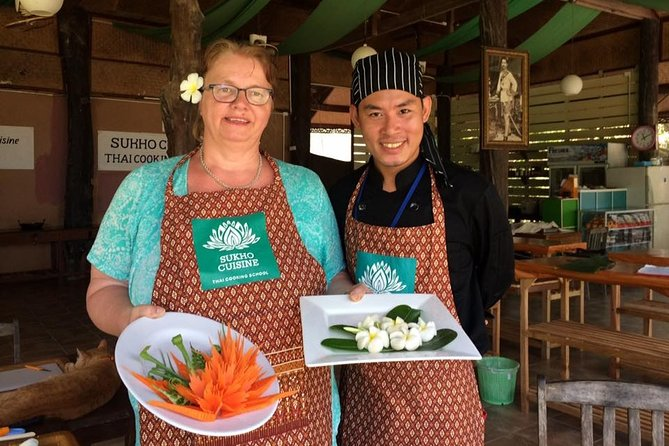 Fruit and Vegetable Carving Class with Master Chef at Sukho Cuisine in Koh Lanta
