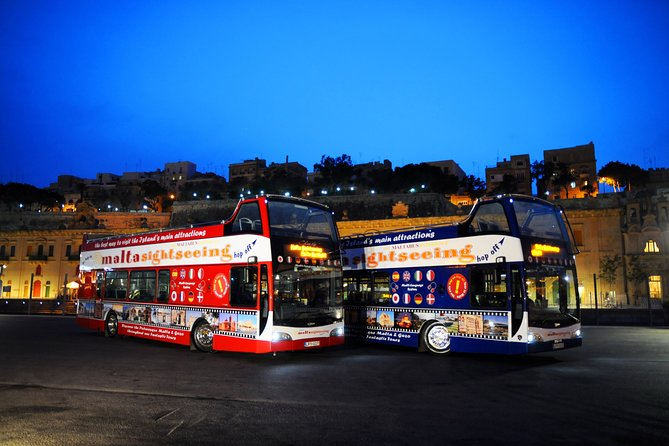 Malta by Night Open Top Bus Tour
