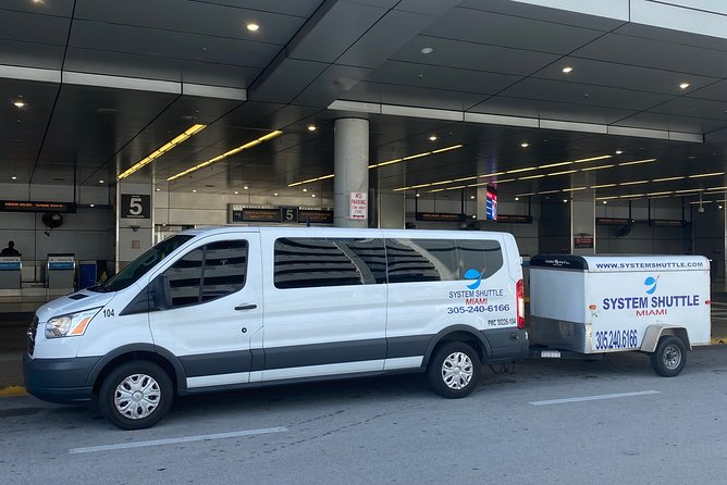 Private transportation to or from MIami International Airport