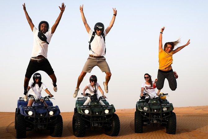 Abu Dhabi: Desert Dune Drive with ATV Bikes, Sandsurf, Camels, and BBQ