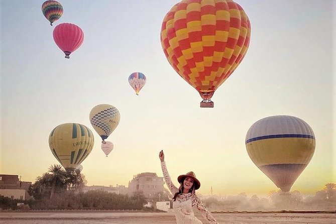 Luxor Combo Tour: Hot Air balloon+Full Day Guided Tour including Lunch
