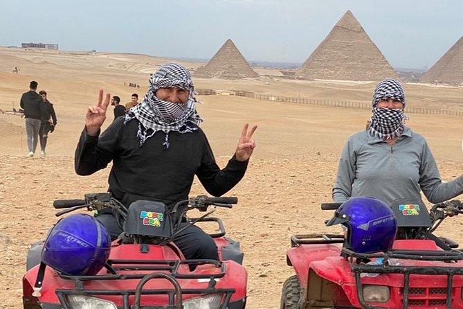 Private Desert Safari by Quad Bike Around Pyramids enjoying Sunset or Sunrise