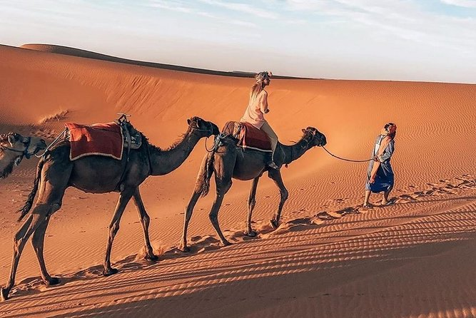 Private Camel Sunset Ride Experience in Merzouga Dunes