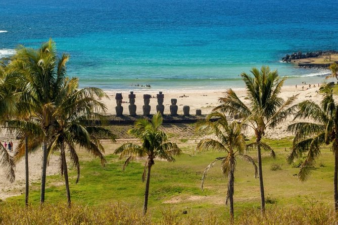 Discover the mystical Easter Island and its famous gigantic stone statues
