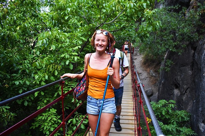 Hiking through hanging bridges and cannyons in Los Cahorros (Granada)