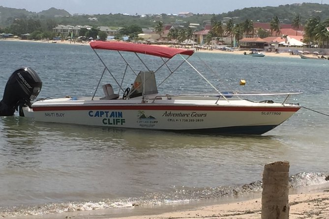 Private All Inclusive Speedboat to Soufriere with Lunch, Mud Bath & Waterfall