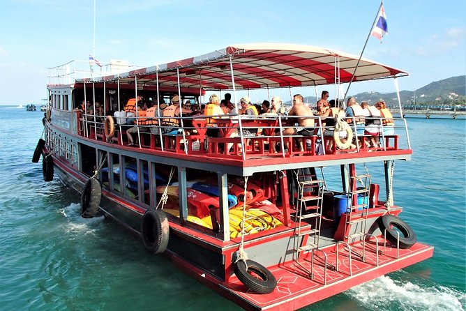 Samui Island Tour to Angthong Marine Park by Big Boat (Snorkel and Sightseeing)