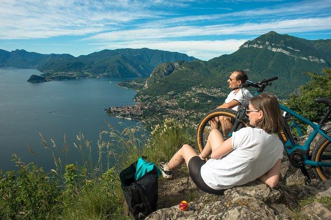 E-bike Tour to Breglia with view above Menaggio