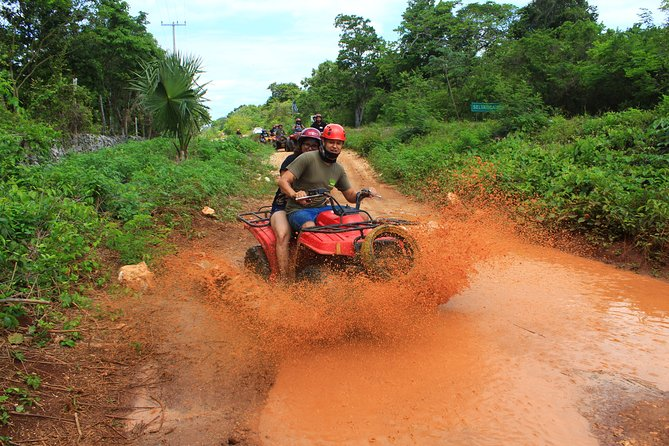 Unlimited ADVENTURE on this ATV Jungle Tour. Ziplines and cenote included.