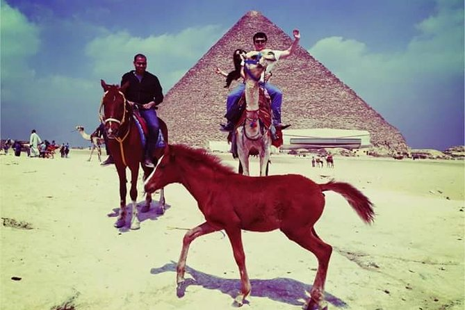 Giza pyramids and sphinx full day tour by camel