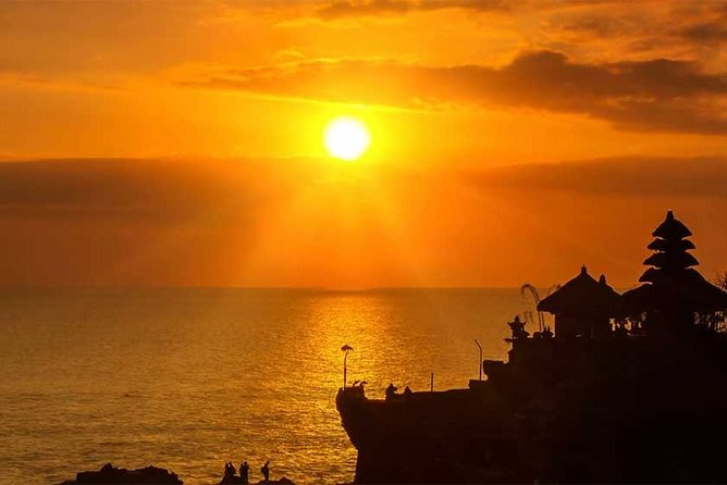 Halp Day in Tanah Lot Temple Bali for the Sunset