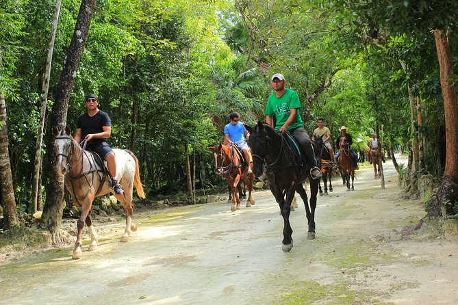 HAVE FUN in the JUNGLE PARK with horseback riding, ATV, zip lines and cenote