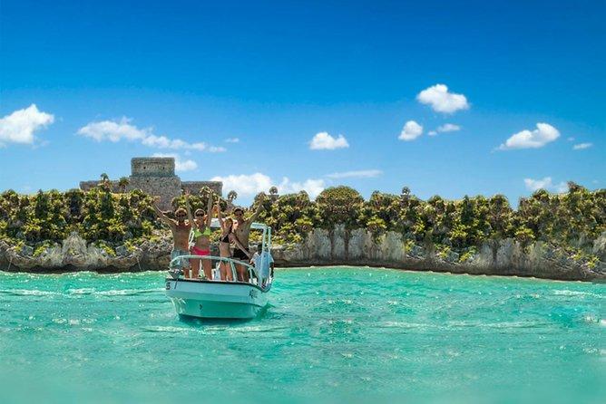Tulum ruins from the sea + snorkel + ride in Playa del Carmen