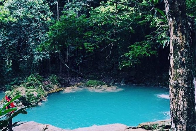 The Blue Hole and Martha Brae River Private Tour from Falmouth