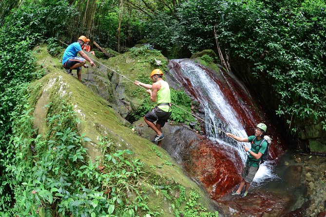 Full-Day Zipline and Waterfall Rappelling Adventure Near San Juan