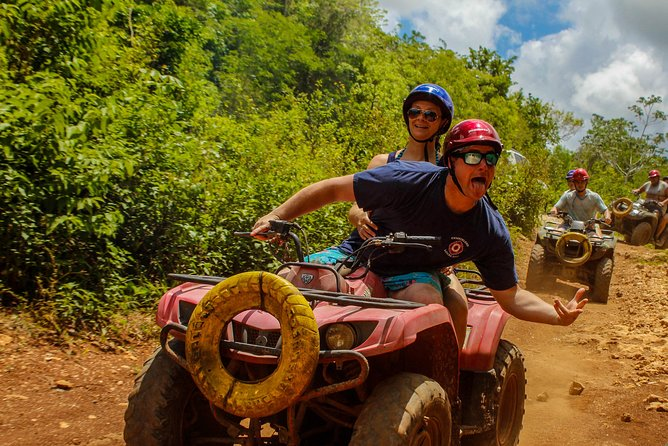 Atv Single from Cancun plus Ziplines circuit and Cenote swim experience