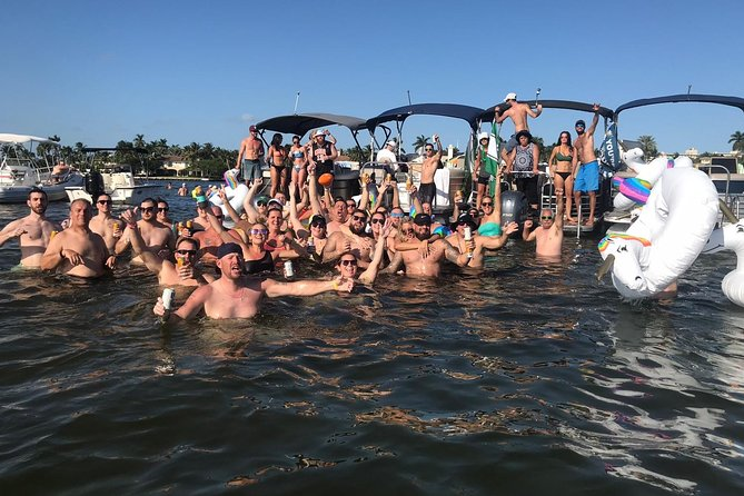 Raft up at the sand bar