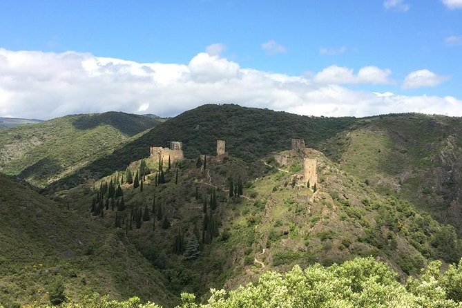 Day tour : Cité de Carcassonne and Lastours castles. Shared tour from Toulouse.