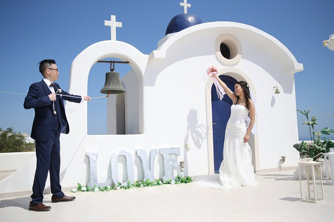 Santorini Wedding for 2 - Elopement in beautiful Santorini .