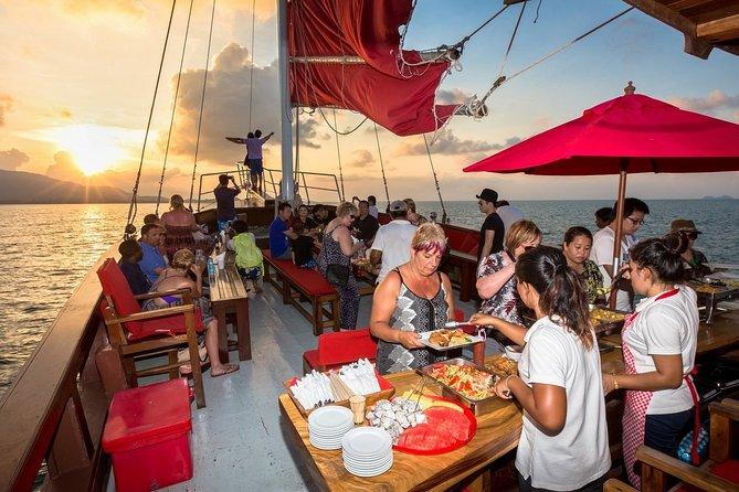 Koh Samui Romantic Sunset Cruise Tour By Red Baron Chinese Sailboat
