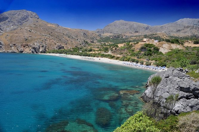 Explore the clear waters of Chania on private yacht tour with Greek lunch aboard