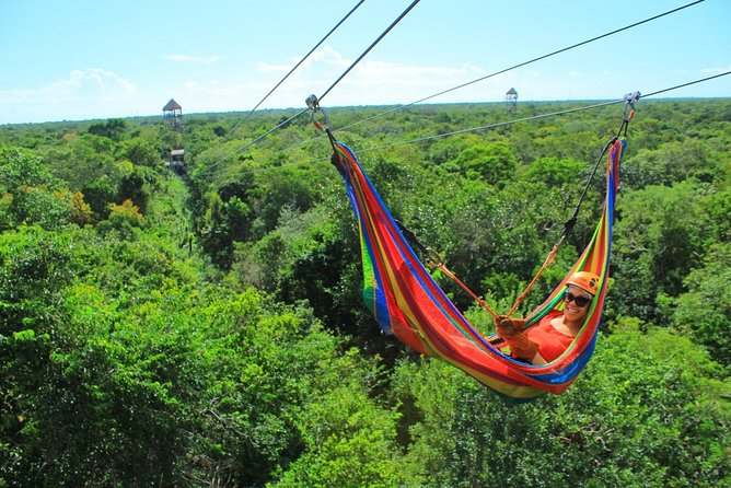 TULUM ADVENTURE with ZIPLINES, a UNDERGROUND CENOTE and Buffet