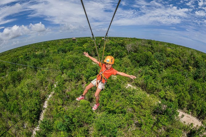 LIVE a ADVENTURE at a Cenote, Zip lines and ATVs in Riviera Maya with buffet
