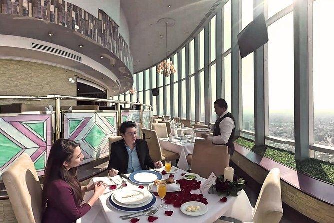Dinner at Bellini, the largest revolving restaurant in the world