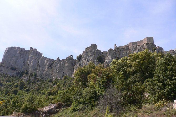 Day tour:Cucugnan, Quéribus & Peyrepertuse castles. Shared tour from Carcassonne