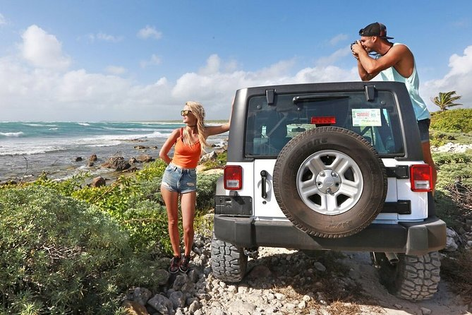 Cozumel Jeep Experience with snorkeling and Beach Break!