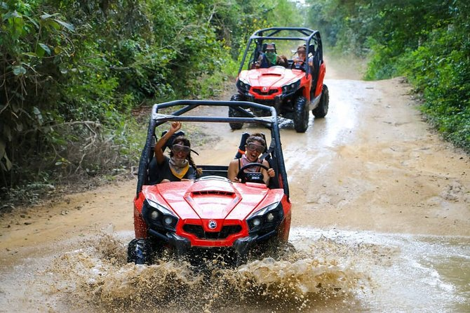DRIVE in JUNGLE MADNESS with Ziplines circuit, Polaris/ATV, Cenote and Transport