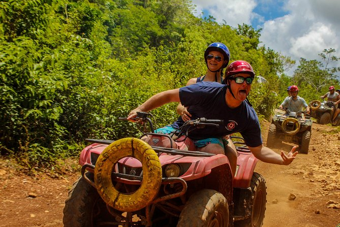 ATV shared experience at Eco Park in Puerto Morelos Ziplines and Cenote included