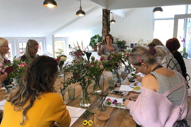 Seasonal Vase Arrangement Flower Workshop in the Cotswolds