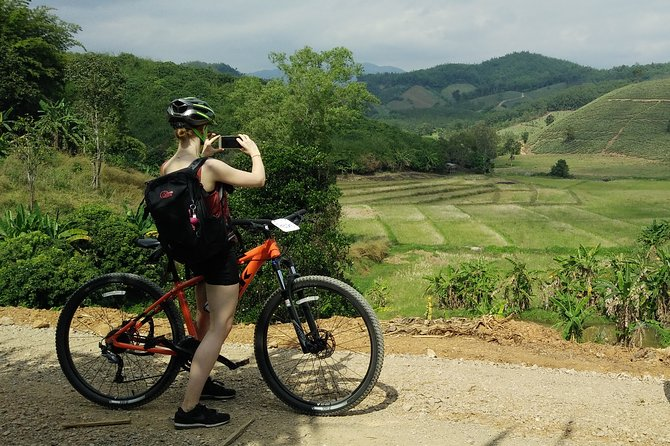 Full day Mountain biking to Waterfall and Hot spring
