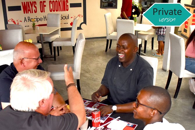 PVT African Meal w/ Chef Founder experience w/ Hotel Pickup & Photoshoot add-ons