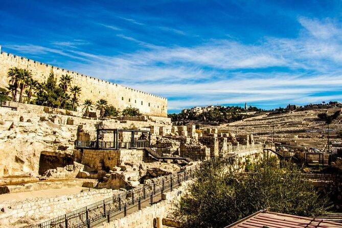 Jerusalem Temple Mount & Dome of the Rock from Tel Aviv