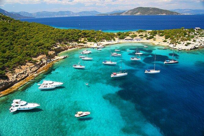 Luxury Catamaran One Day Cruise From Athens to Egina -Moni island