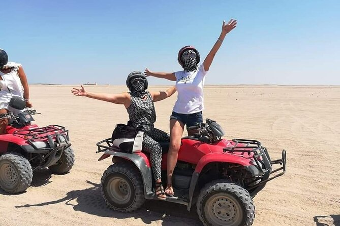 5 Hours Quad Bike Safari & Camel Riding & Dinner and oriental show in HURGHADA