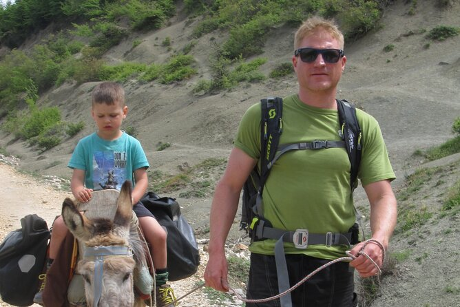 Donkey riding in a half day tour from Berat to Shpirag