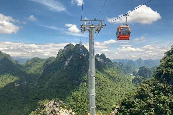 1-Day Yangshuo Yulong Bamboo Boat and Ruyi Peak Cable Car from Xingping Hotel