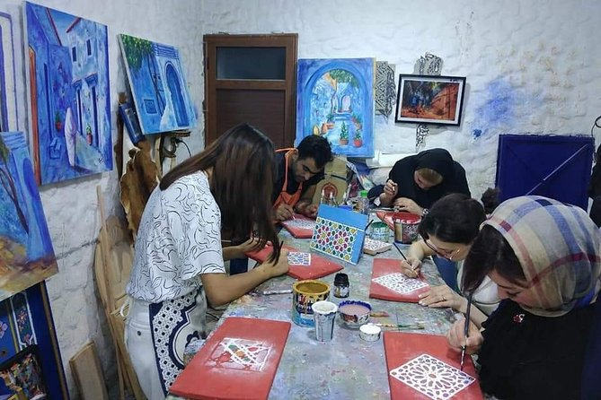 Private Islamic Geometry Wood Painting Class in Chefchaouen