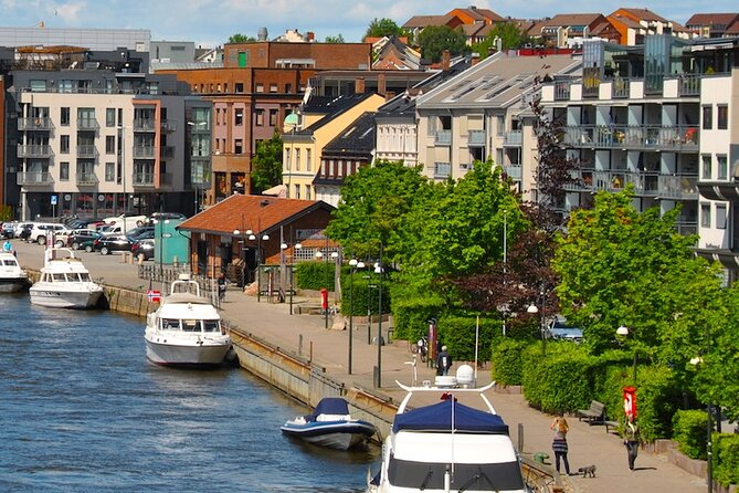 Fredrikstad: Explore its lively center with an audio tour along the riverside