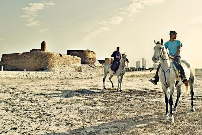 Arabian Horseback Riding and Sunset to Bahrain Fort