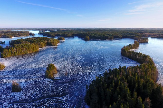 Ariel picture of the national park during winter time