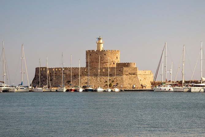 Walking tour of Rhodes old and new city + coffee and traditional lunch with wine