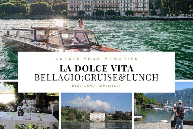 LA DOLCE VITA - BELLAGIO: Cruise & Lunch + Villa Melzi (Guided Tour)