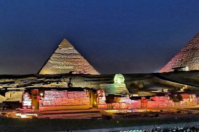 Cairo: Sound and Light Show Into the History at Giza Pyramids & Entrance fee